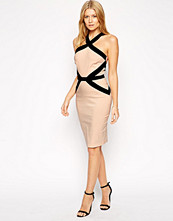 Paper Dolls Paperdolls Bodycon Dress with Contrast Panelling
