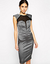 Paper Dolls Paperdolls Metallic Dress with Sweetheart Mesh Insert