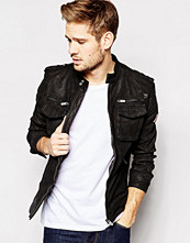 Jackor - Pepe Jeans Pepe Leather Biker Jacket Harvey Slim Fit
