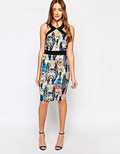 Paper Dolls Paperdolls Halterneck Bodycon Dress in Snake Print