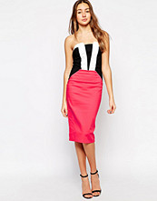 Paper Dolls Bandeau Dress with Stripe Front