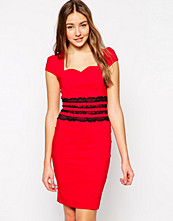 Paper Dolls Pencil Dress with Lace Waistband