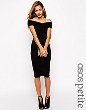 Klänningar - ASOS PETITE Bodycon Dress With Bardot Shoulder And Cross Front Detail