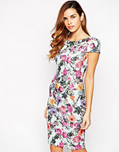 Paper Dolls Pencil Dress With Double Collar Detail In All Over Floral Print