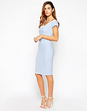 Paper Dolls Pencil Dress With Bow Front Detail And Contrast Waist