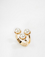 Paper Dolls Three Faux Pearl Open Ring