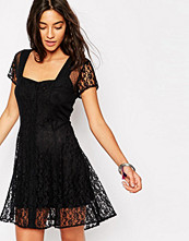 Band of Gypsies Boho Lace Dress with Tie Back
