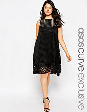 ASOS CURVE Swing Dress in Grid