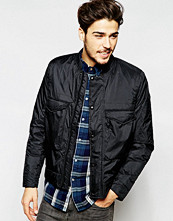 Jackor - Paul Smith Jeans Overhead Jacket with Insulation In Black