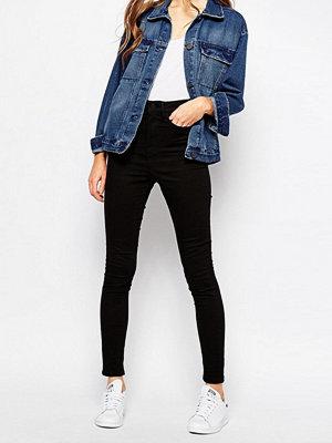 Wåven Anika Skinny jeans med hög midja Helsvart