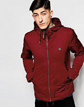 Jackor - Pretty Green Jacket With Hood In Red