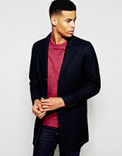 Jackor - Pull&bear Overcoat With Wool-Blend In Navy