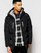 Jackor - Pull&bear Padded Jacket With Zip Details in Black