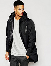 Jackor - Pull&bear Parka Jacket With Padded Insert Detail