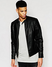 Jackor - Pull&bear Faux Leather Jacket With Zip Detail
