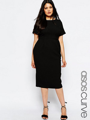 ASOS Curve Midi Wiggle Dress in Texture