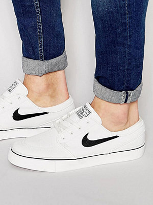 Nike Sb Zoom Stefan Janoski Canvas In White 615957-100