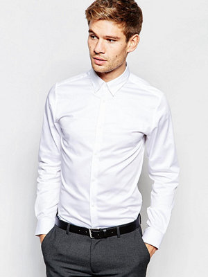Selected Homme Shirt with Concealed Button Down Collar in Slim Fit