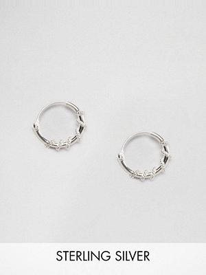 Kingsley Ryan örhängen Sterling Silver 10mm Twist Hoop Earrings