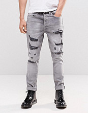Jeans - Religion Gore Ripped Jeans in Grey