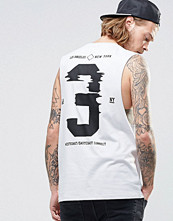 Linnen - ASOS Sleeveless T-Shirt With Back Print And Dropped Armhole
