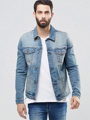 ASOS Skinny Denim Jacket in Mid Wash