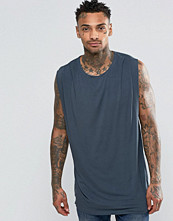 Linnen - ASOS Longline Sleeveless T-Shirt With Drape Neck And Side Spilts