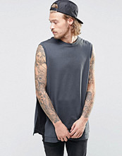 Linnen - ASOS Oversized Sleeveless T-Shirt With Contrast Panels