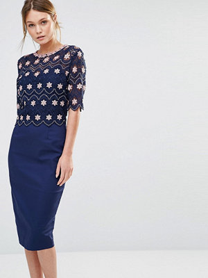 Paper Dolls Lace Overlay Midi Dress