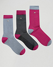 Strumpor - Feraud 3 Pack in Modal Cotton Multi Pink and Grey