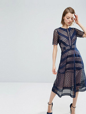 ASOS Premium Occasion Lace Midi Dress
