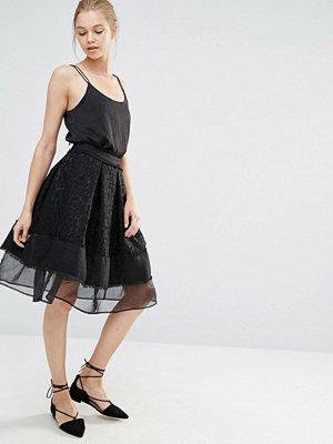 Endless Rose Lace Mesh Panel Midi Skirt