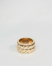 Smycken - ASOS Plaited Look Ring Band In Gold