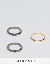 Smycken - Simon Carter Band Stacking Rings In 3 Pack