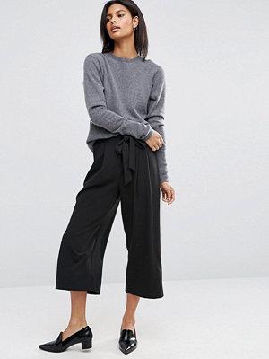 ASOS DESIGN Tailored Culotte-byxor med knytskärp i midjan