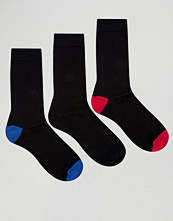 Strumpor - Ciao Italy 3 Pack Sock in Modal Cotton Contrast Heel and Toe