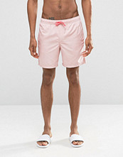 Badkläder - ASOS Swim Shorts In Pastel Pink With Neon Drawcord Mid Length