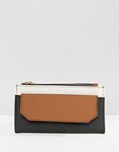 Plånböcker - Pull&bear Zip Purse With Front Flap In Colourblock