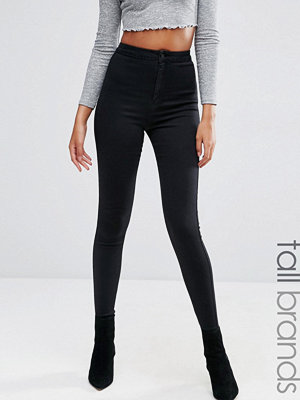 Missguided Tall Vice Superstretchiga skinny jeans med hög midja