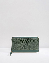 Plånböcker - Urbancode Leather Purse With Faux Snakeskin Panel