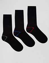 Strumpor - Ciao Italy 3 Pack Sock in Modal Cotton Contrast Lined Heel