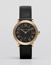Klockor - Marc Jacobs Black Leather Riley Watch MJ1471