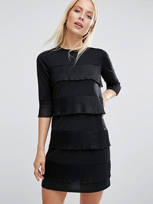ASOS Shift Dress with Pleated Frill Detail