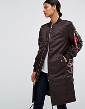 Kappor - Alpha Industries MA-1 Longline Bomber Coat with Gold Zip