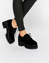 Pumps & klackskor - ASOS OBACA Chunky Velvet Lace Up Shoes