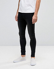 Jeans - Cheap Monday Jeans Mid Spray Extreme SuperStretch Skinny Fit Black Sin
