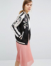 Jackor - Vero Moda Satin Embroidered Bomber Jacket