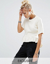 T-shirts - Milk It Vintage Ribbed T-Shirt With Peplum Frill Hem