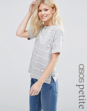T-shirts - ASOS PETITE Top with Unicorn Badges in Stripe