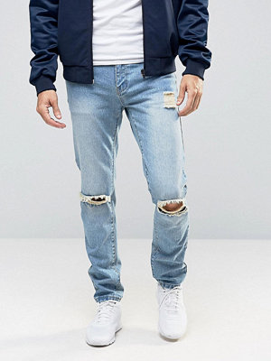 Jeans - Liquor & Poker Stonewashed Ripped 90's Jeans